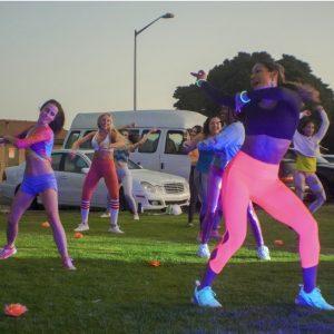 women dancing outdoors in san diego
