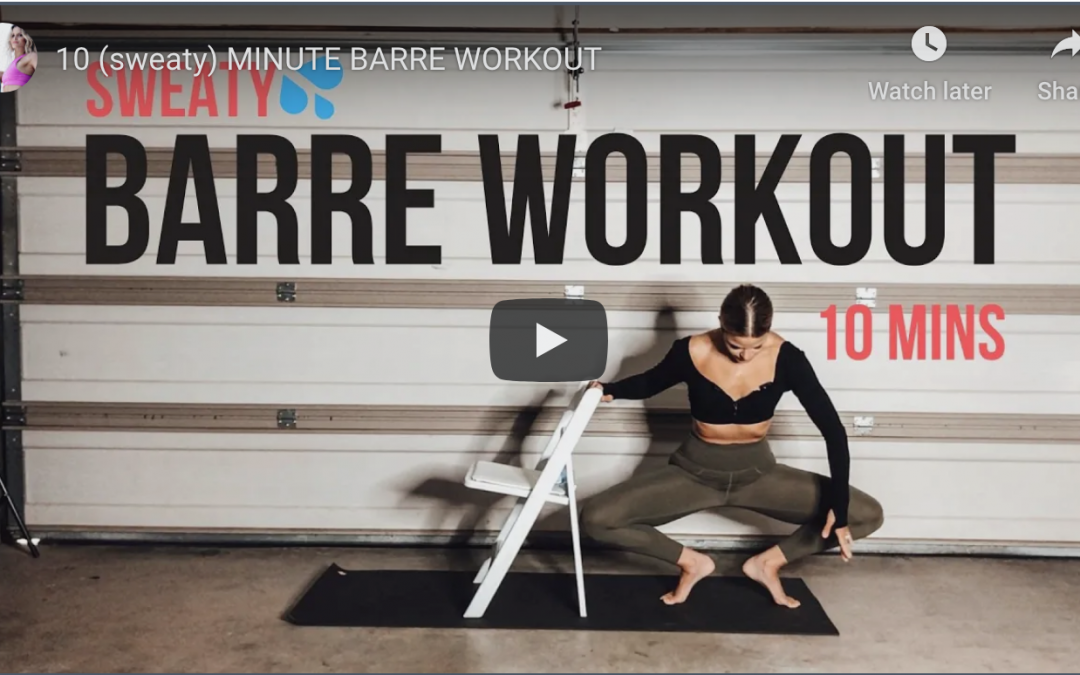 10 Min Barre Workout| Home Fitness