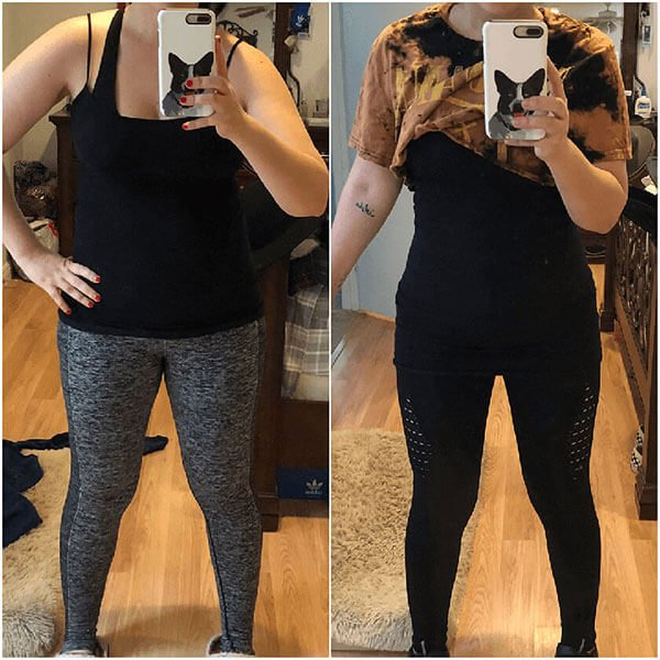 before and after booty program weight loss