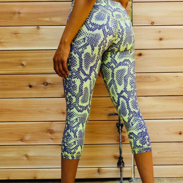 anaconda snake print leggings