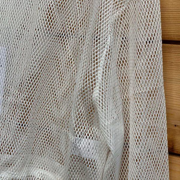 netted hood crop top