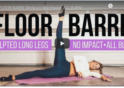 Floor Barre Home workout|No Impact