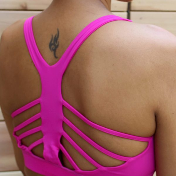 unstoppable strappy back bra top
