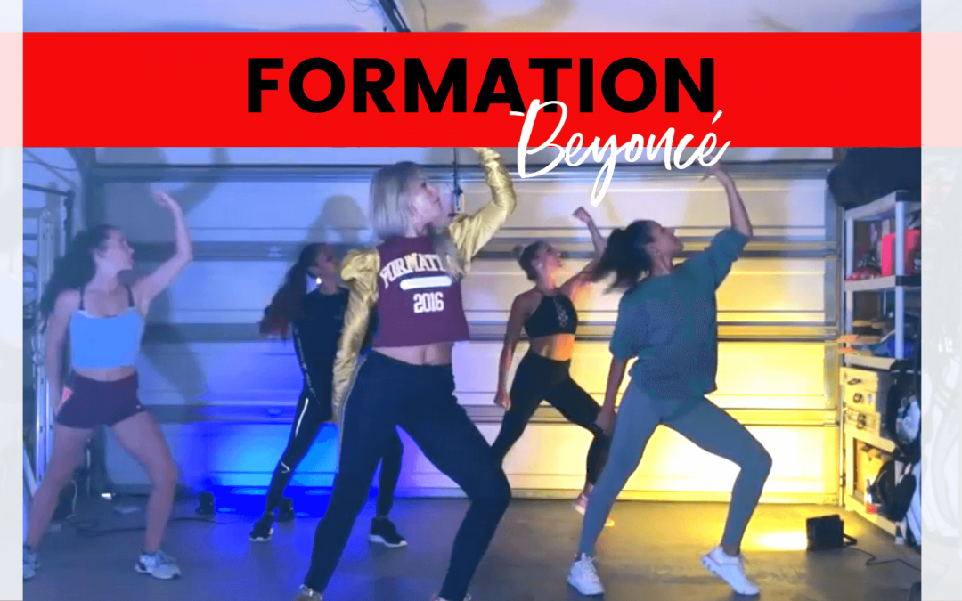 girls dancing formation