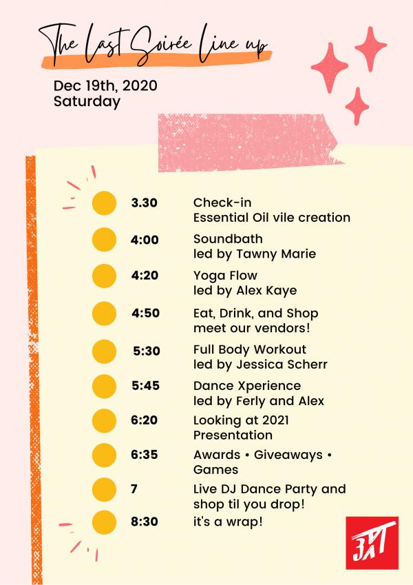 The last soiree schedule