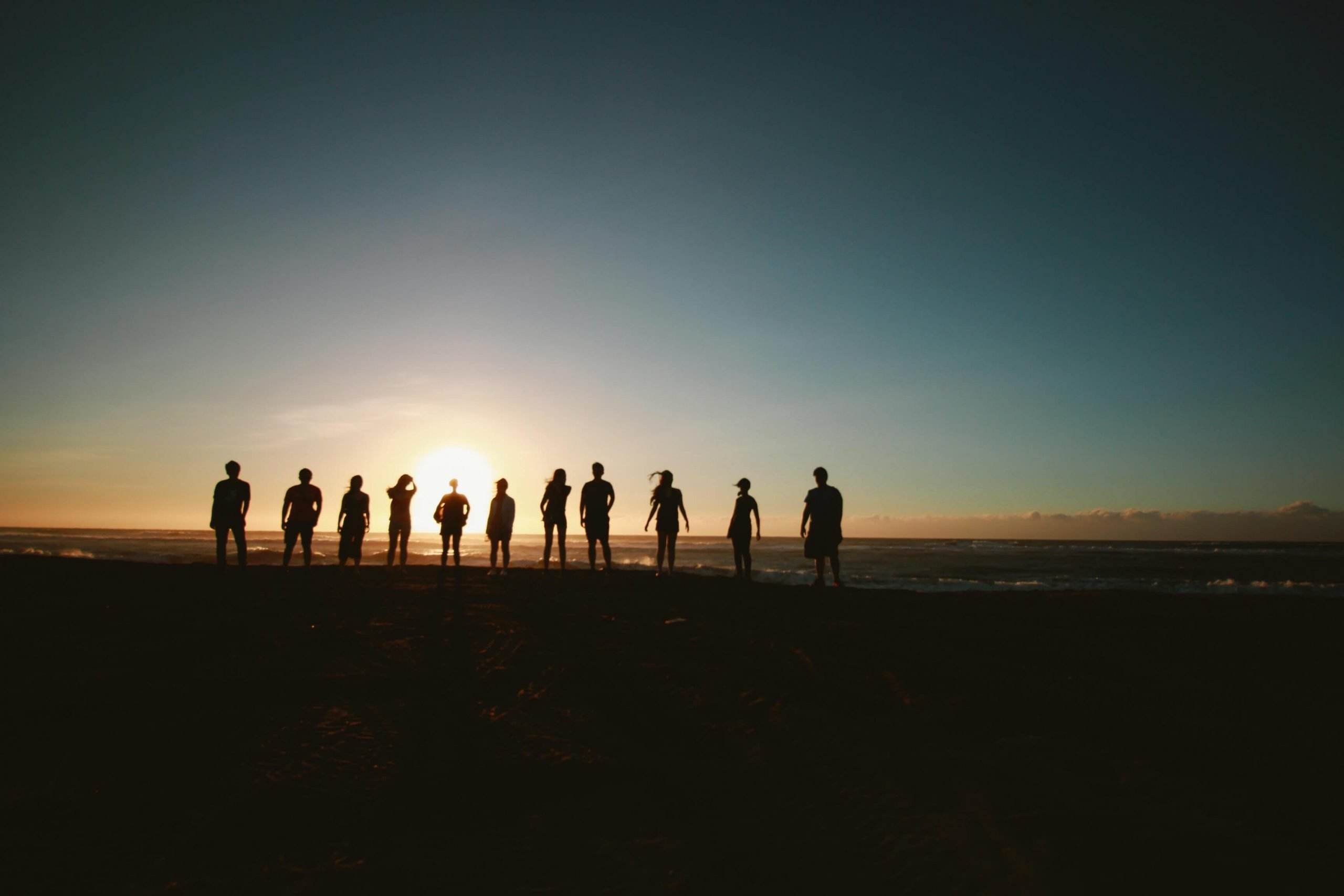 community on the beach
