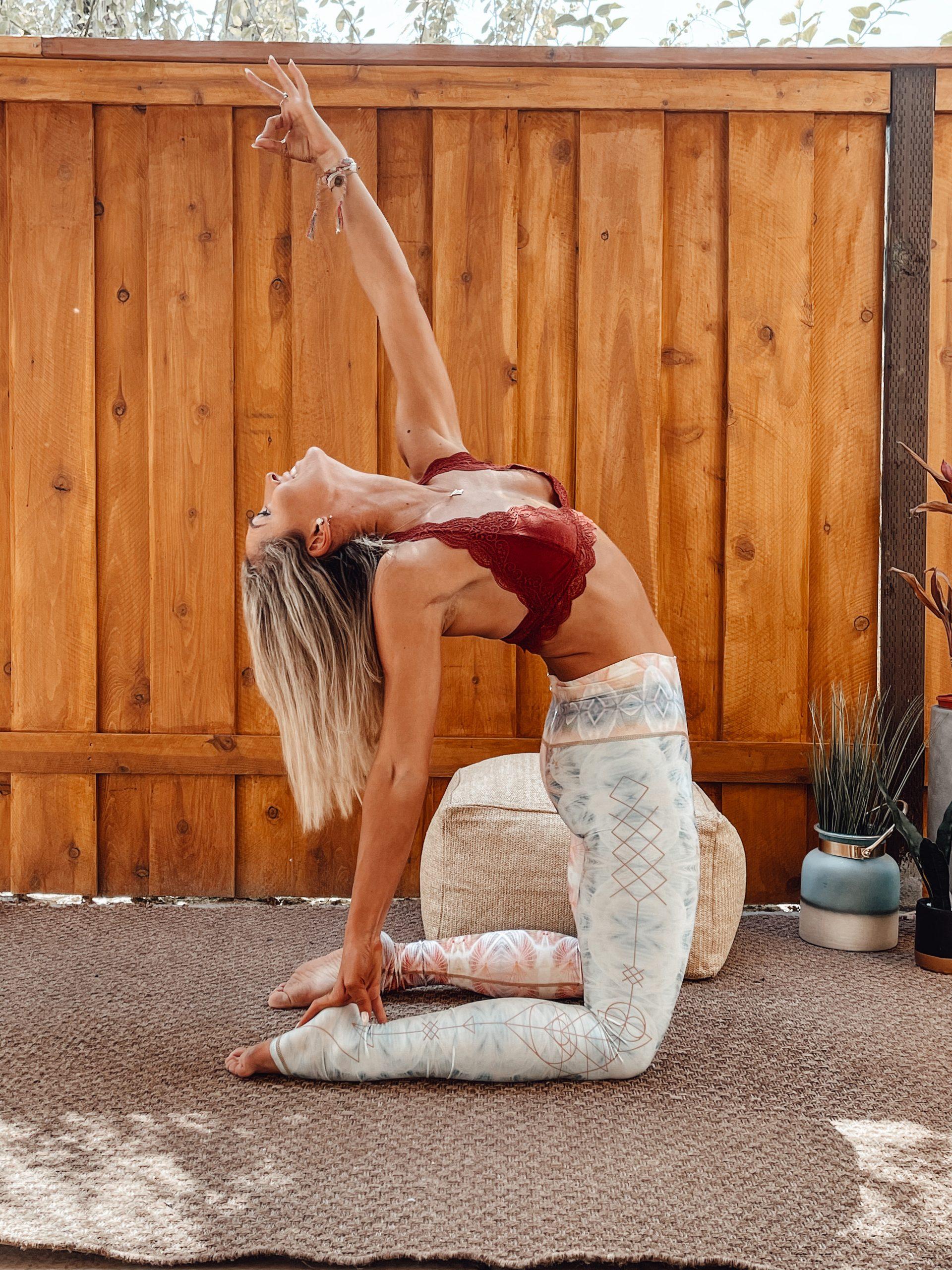 woman doing yoga and boosting metabolism